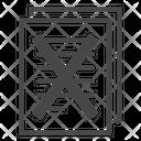 Forbidden Illegal Paper Icon