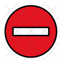 Forbidden Stop Sign Road Sign Icon
