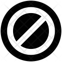 Forbidden Restricted Not Icon