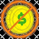 Forbidden dollar Icon