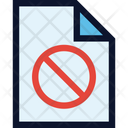 File Denied Forbidden Icon