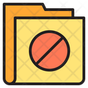 Stop Folder Forbidden Folder Icon