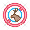 Deer Cross Out Icon