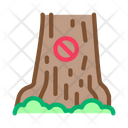 Forbidden Logging Tree Icon
