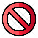 Forbidden Sign Prohibited Icon