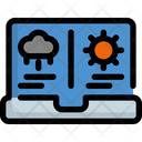 Laptop Weather Forecast Icon