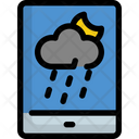 Mobile Rain Weather Icon