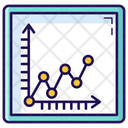 Polyline Chart Polyline Graph Data Analytics Icon
