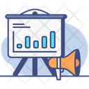 Forecasting Marketing Analytics Chart Icon
