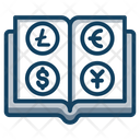 Foreign Currencies Currency Book Finance Book Icon