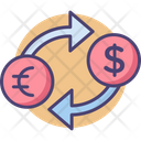 Foreign Currency Money Exchange Dollar Exchange Icon