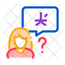 Woman Foreigner Silhouette Icon
