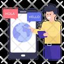 Foreign Language Education Language Learning Foreign Language Education Mobile Education Online Education Educational App Icon