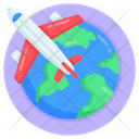 Global Flight Foreign Trip Flight Icon