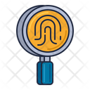 Forensics Fingerprint Mangifying Glass Icon