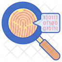 Forensics Finger Print Magnifying Glass Icon