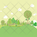 Forest Background Garden Icon