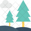 Forest Pine Trees Icon