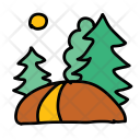 Forest Path Nature Icon