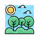 Nature Tree Landscape Icon