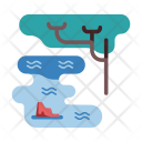 Water Sea Tree Icon