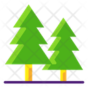 Forest Conifer Xmas Tree Icon
