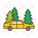 Forest Roadside Car Icon