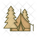 Forest Tent Camp Icon