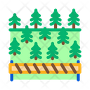 Overlapped Forest Timber Icon