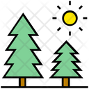 Summer Pine Nature Icon
