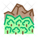 Jungle Forest Mountain Icon