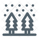 Cold Forest Snowfall Icon
