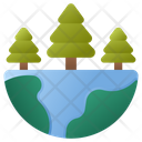 Forest Nature Green Earth Icon
