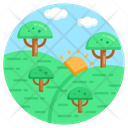 Landscape Forest Forestland Icon