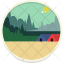 Forest Hut Landscape Icon