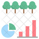 Forest Area Statistic Icon