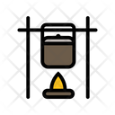 Cooking Food Fire Icon