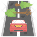 Forest Destruction Road Accident Earthquake Icon