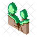 Forest Earthquake Icon