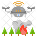 Fire Detection Drone Forest Fire Iot Drone Flame Sensor Technology Icon