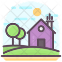 Forest Hut Farmhouse Hut Icon