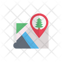 Map Location Tree Icon