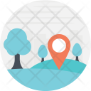 Forest Location Locator Icon