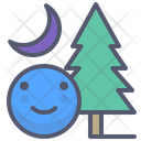 Forest night Icon