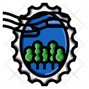 Forest Oval Stamp Icon