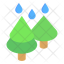 Forest Rainfall Forest Rain Woodland Rain Icon
