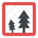 Forest Sign Informative Icon