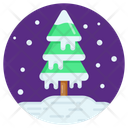 Forest Snow Snowstorm Snowy Weather Icon