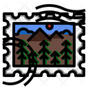 Forest Stamp Icon