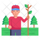 Forest Tourist Icon